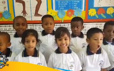Grade 1 Learners singing two songs in different lanuages